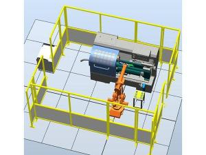 Industrial Robot Loading and Unloading Training System